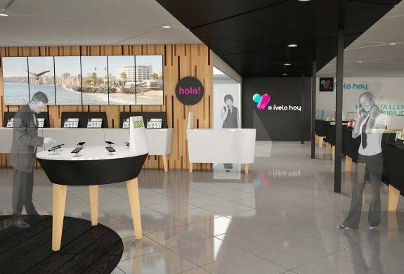 SweetSpot / Lugar desde donde se entiende la propuesta espacial y como se organiza la Tienda. Circulación principal, un área de bienvenida y otra de showroom.