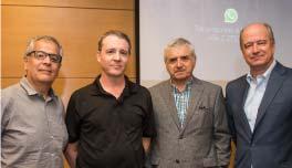 Gonzalo Castillo, Charles Kimber de Arauco y Eugenio Tironi